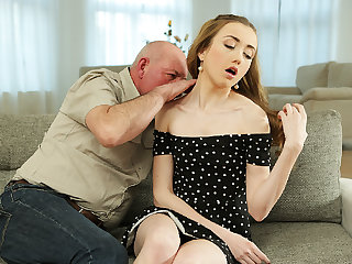 DADDY4K. Slender Jessi is happy to get closer to young girl