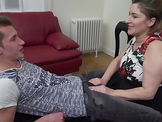 Mature blonde amateur Teresa Lynn takes a hard big dick in her holes