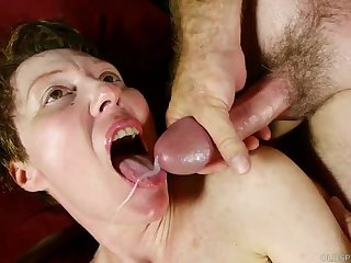 Steamy old spunker with nice jugs loves to have sex and facials