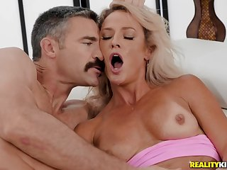 Skinny blonde mom Sydney Hail gets banged by younger dude
