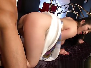 Milf with amazing juggs devours cock in hardcore