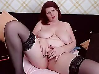 Redhead Mommy With Big Ass And Boobs Hot Solo Session