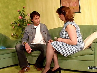 German Mommy Sedcue to Make Love by Young Babe Boy of her Friend