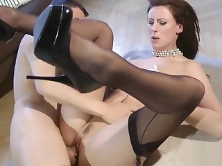 British classy mature riding reversecowgirl