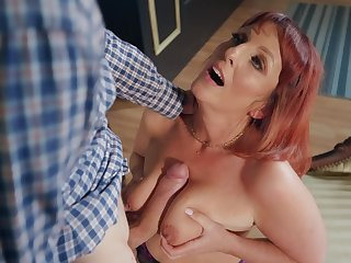 Beau Diamond is the real master of sucking and jumping on a fat  penis