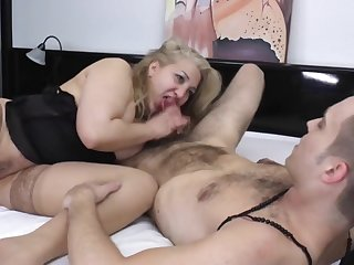 Blond Hair Girl Russian Mom Gets Nailed - housewife