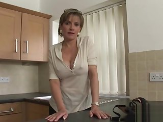Unfaithful english milf gill ellis pops out her heavy boobies