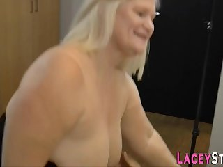 Lacey Star gets her experienced slit stuffed hard - housewife