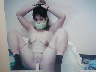 Filipina Jane is HUMILIATED.. GAGGED with her PANTIES