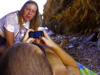 Outside sex at the beach is amazing adventure for horny Marion Moon
