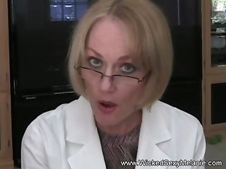 Hot amateur granny Wicked Sexy Melanie plays the good doctor here