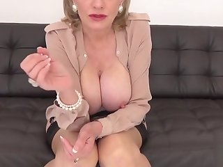 Unfaithful british milf gill ellis flaunts her monster boobs