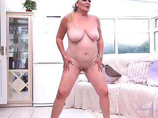 Granny Christina Is One Disgusting Old Slut Solo Video