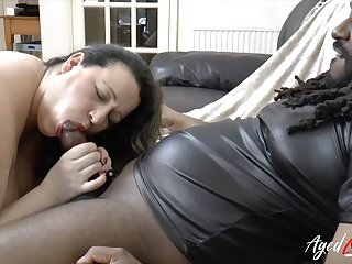Interracial Housewife Hard Core and Oral Sex