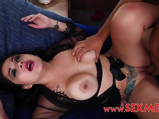 Latina stepmom getting fucked by cocky son