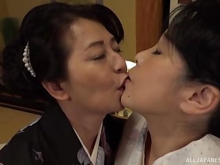 Lesbian pussy licking on the bed is a fantasy of lesbian Asian couple