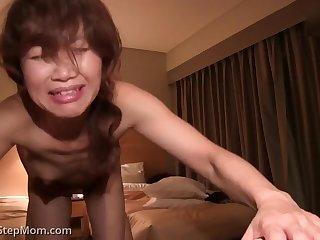 Japanese skinny MILF hardcore porn video