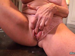 Horny GILF Faye - full-breasted mature slut POV