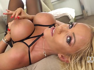 Lucy Zara - A Blond Hair Girl Bombshell's Private