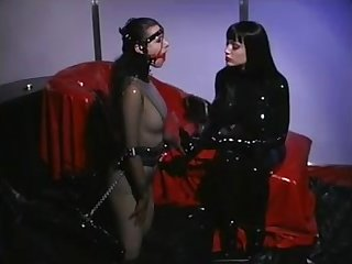 Domination in latex - lesbian kinky fetish