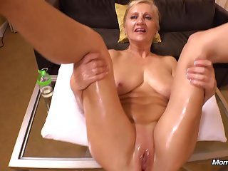 Amelia 50 Year Old Natural European Blonde Mommy