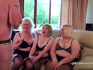 Older bigger blondes with  cock