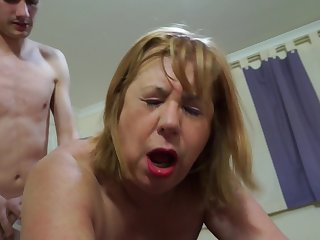 Auntie Trisha - hard core granny porn video