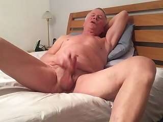 Naked wanker Jon jerking off for all to see