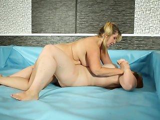 Blonde woman enjoys fatty lesbian slut for a nice sexual fight