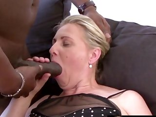 Mature blonde women and grandmas enjoy sucking huge and black dicks so good